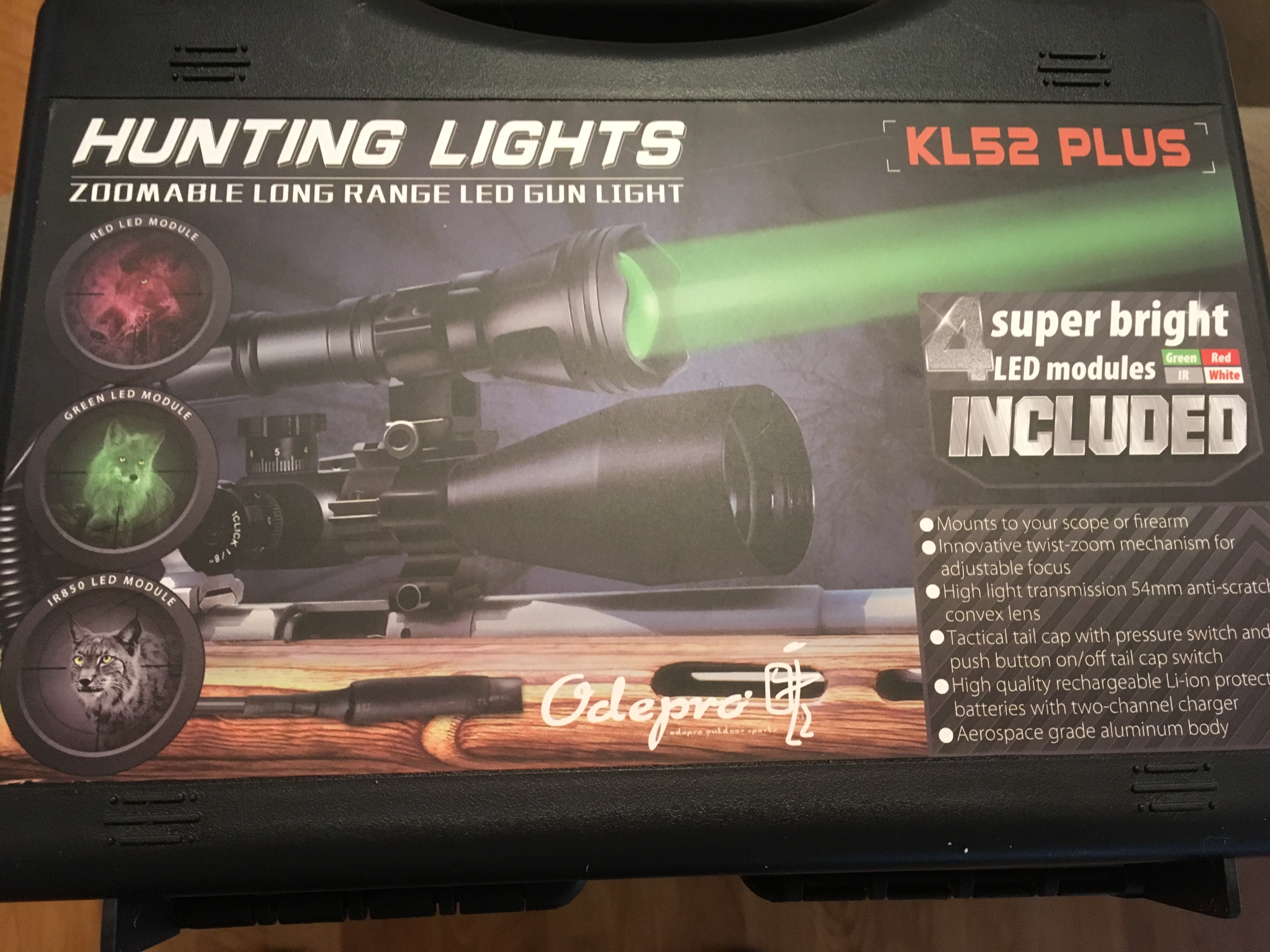 Odepro KL52 PLUS Hunting Flashlight Kit Texas Tested Review {Video}